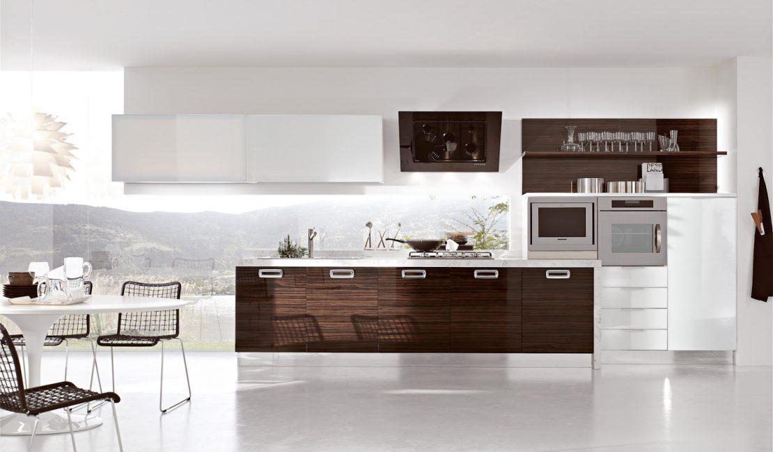 Modern Italian Kitchens Designs - Replay Gloria Wooden Cabinets Sydney