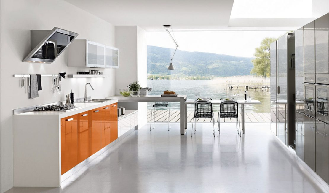 Orange Kitchen Cabinets - Gloria Sydney