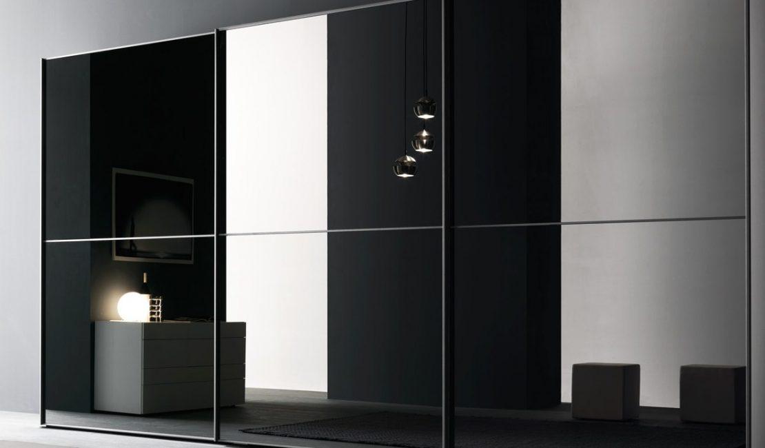Mirror Glass Modern Wardrobe Sliding Doors