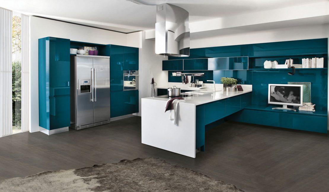 Bring - Blue Modern Kitchen Design Sydney