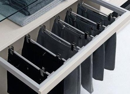 Pull Out Skirt Racks - Walk in Wardrobes Sydney