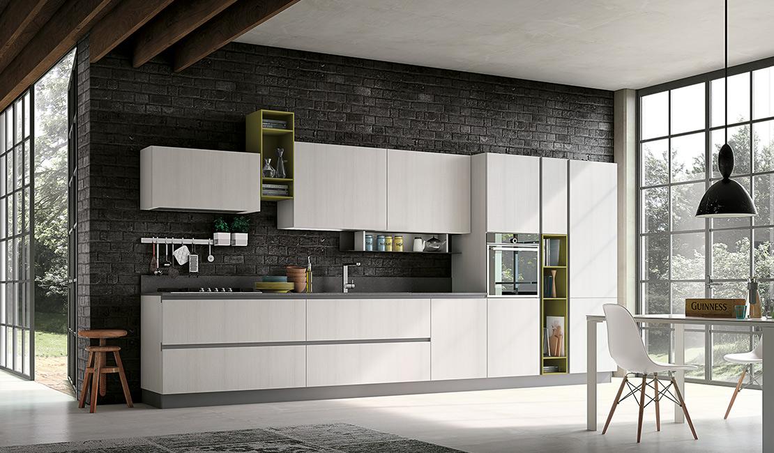 Eurolife - White Modern Kitchen Maya Sydney