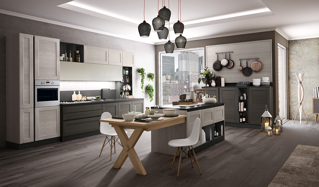 Eurolife - Grey Contemporary Kitchen Sydney