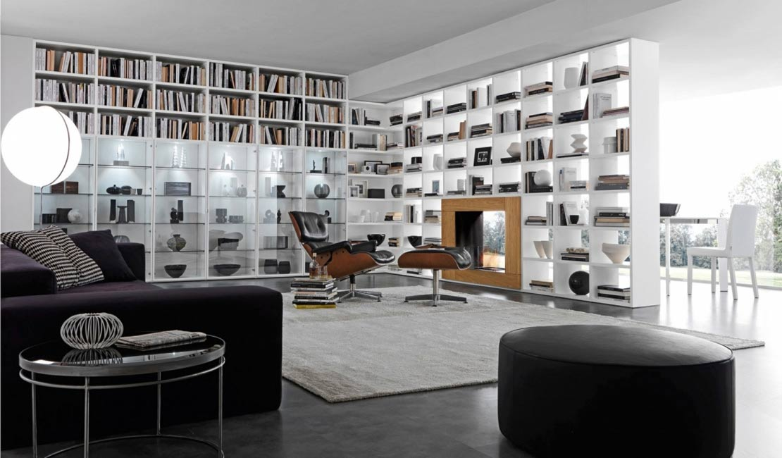 Eurolife - White Bookcases + Wall Storage Sydney