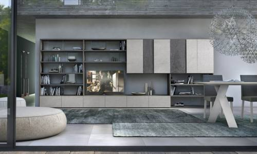 Eurolife - Bookcase + Wall Storage Architectural Joinery Sydney