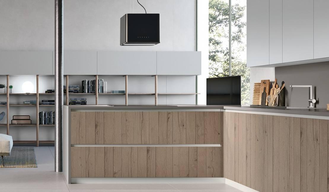 Halogen Lights Natural Modern Kitchen Sydney - Eurolife
